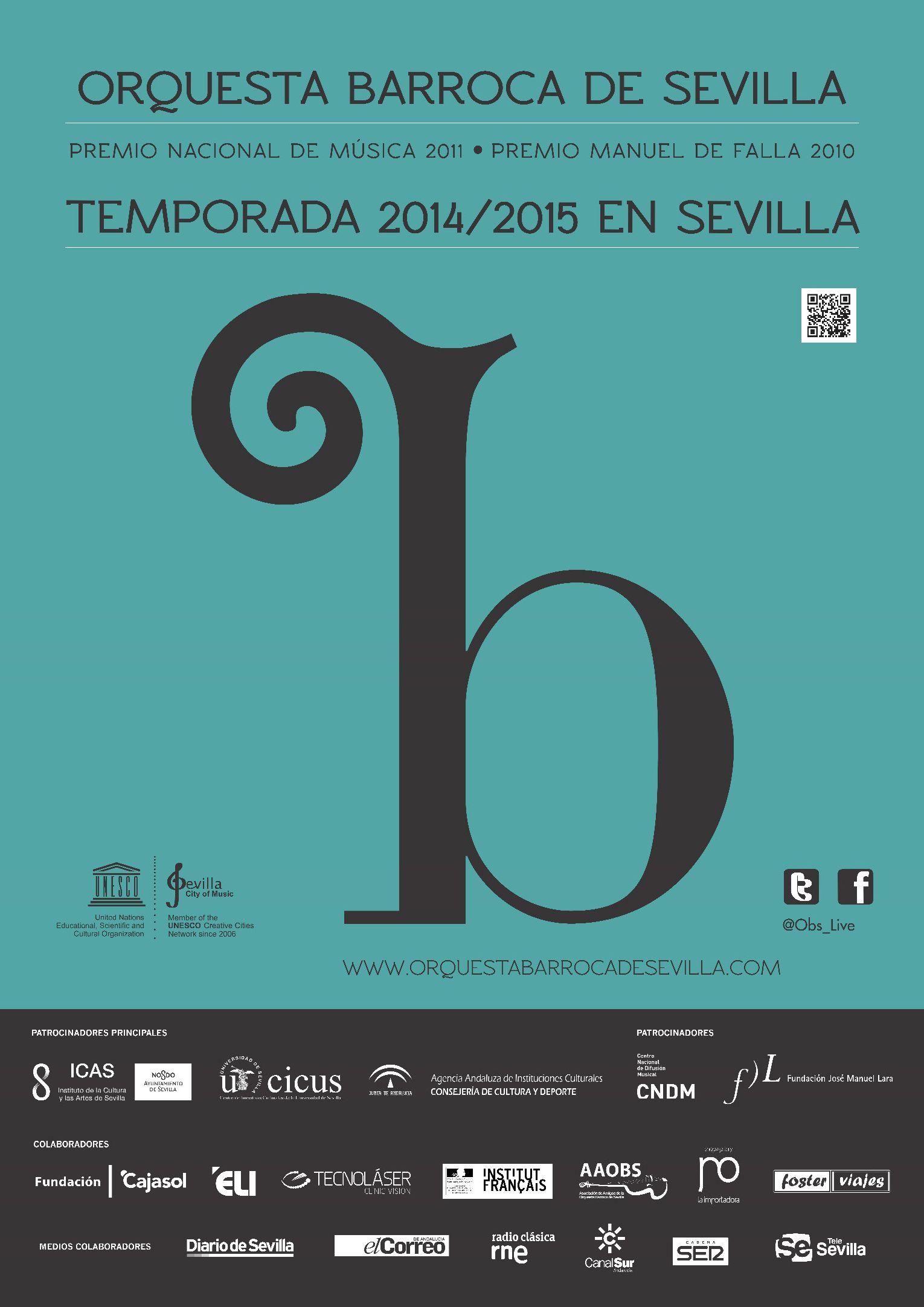 Cartel de la Temporada en Sevilla 2104-2015