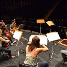 2014-08-22. Conciertos de Brandeburgo. Andoni Mercero. Santander. Festival de Santander. Ensayos. Fotos de Sabela García