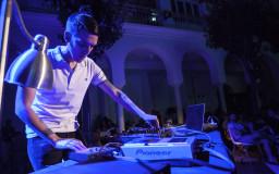 2014-06-21. Miembros de la OBS y DJ Ventura. Electrobarroco. Fotos de Marta Morera