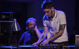 2014-06-21. Miembros de la OBS y DJ Ventura. Electrobarroco